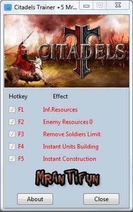 Citadels Trainer