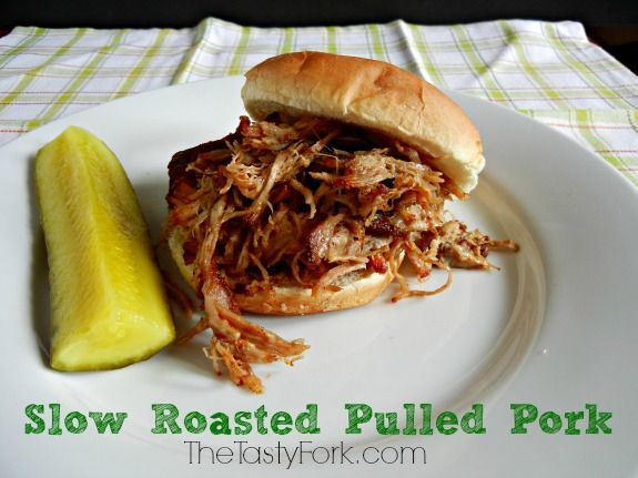 Slow Roasted Pulled Pork on TheTastyFork.com