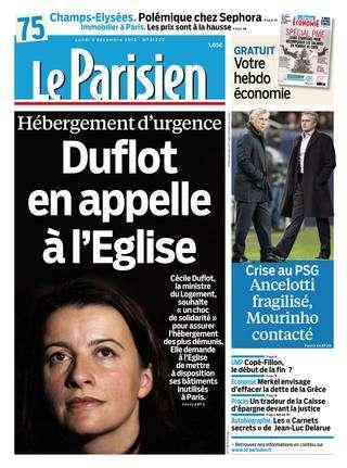 Le Parisien et Suppléments Lundi 03 Décembre 2012